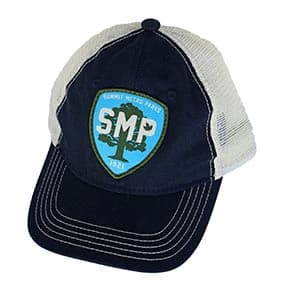 SMP Blue Trucker Hat with Patch