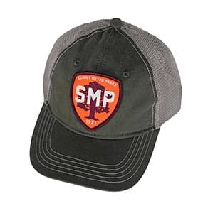 SMP Orange Trucker Hat with Patch