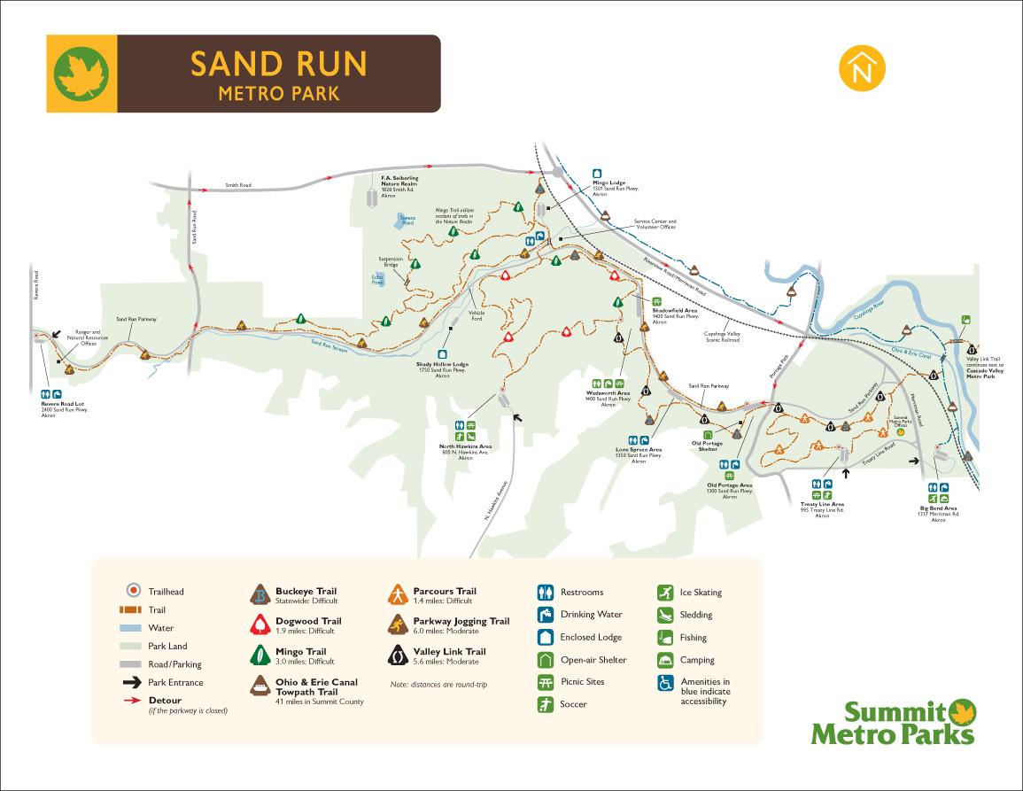 Fairlawn Ohio Map.Sand Run Metro Park Summit County Metro Parks