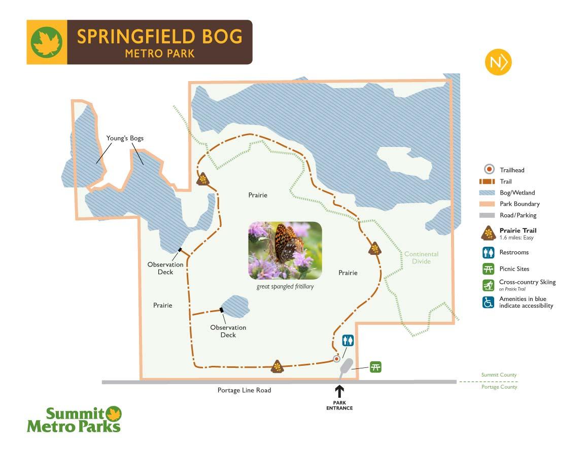Springfield Township Ohio Map.Springfield Bog Metro Park Summit Metro Parks