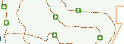 Piney Woods Trail map