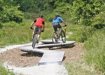 easy mountain bike trails near me